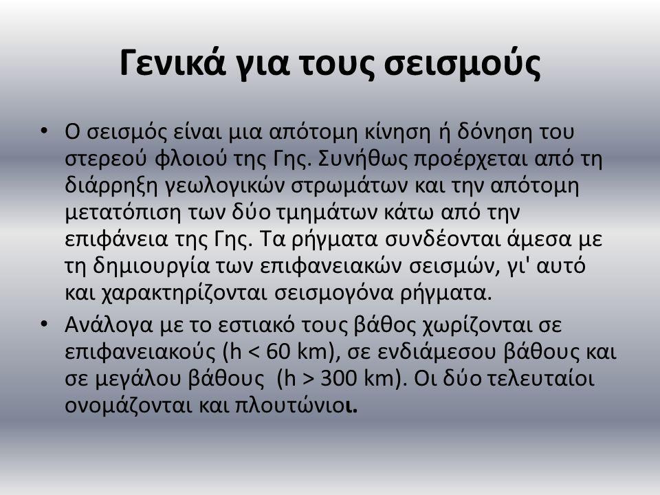 Γενικά για τους σεισμούς