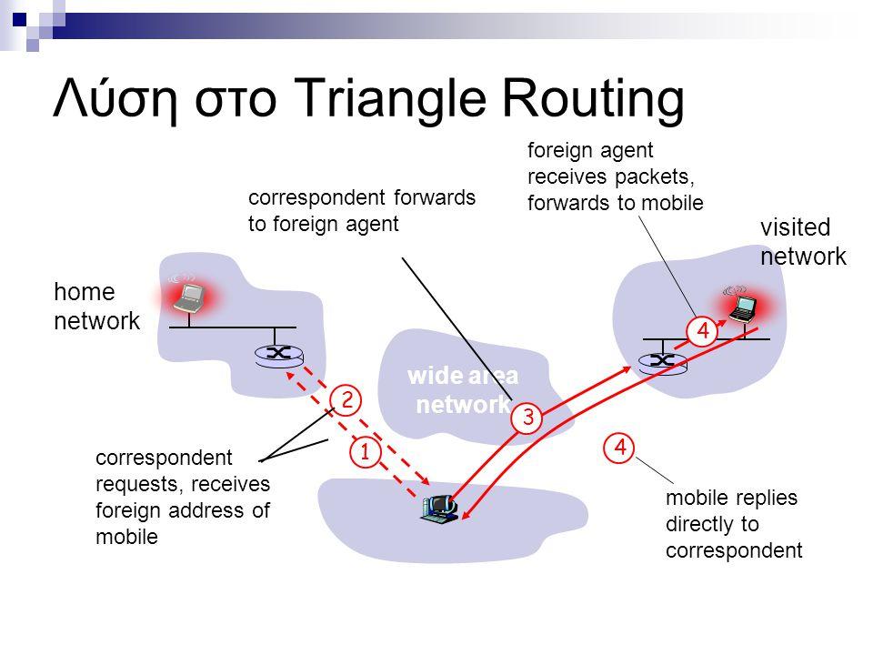 Λύση στο Triangle Routing