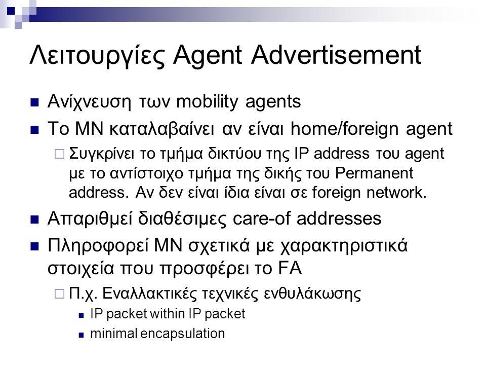 Λειτουργίες Agent Advertisement
