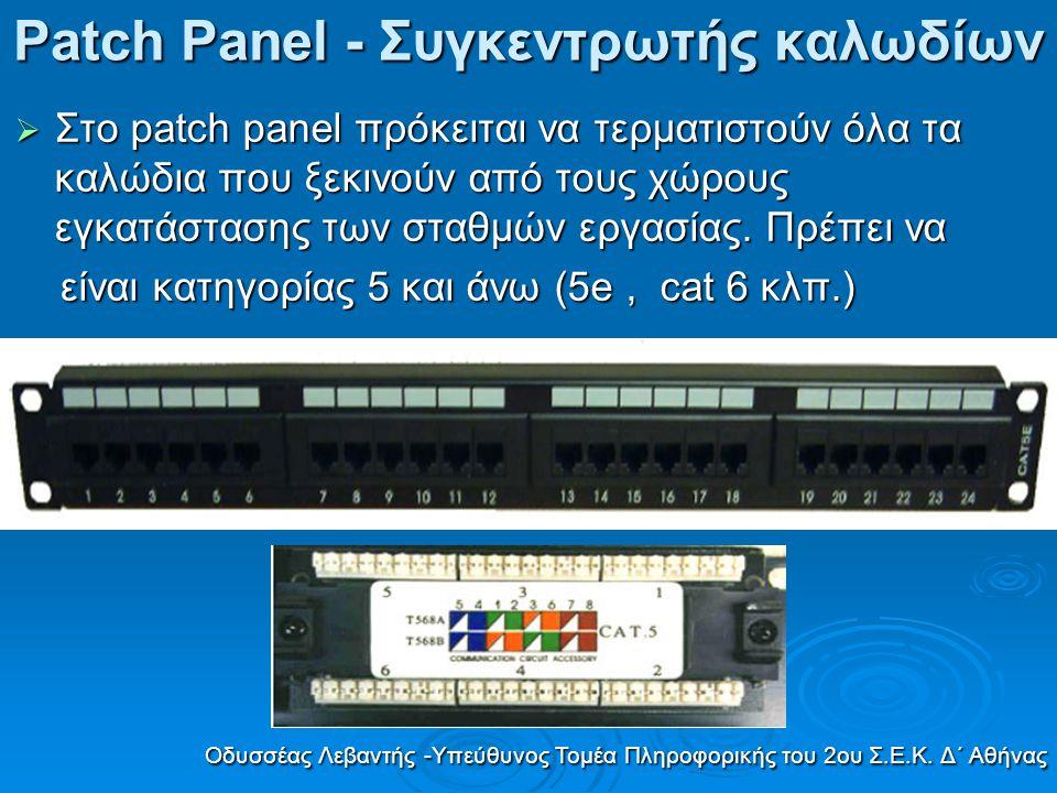 Patch Panel - Συγκεντρωτής καλωδίων