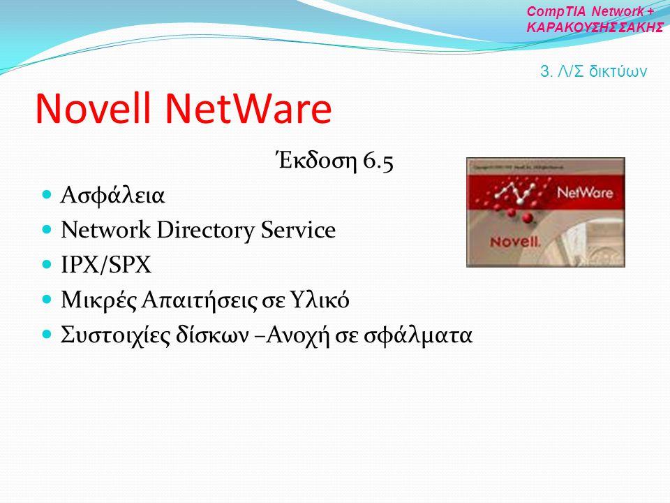 Novell NetWare Έκδοση 6.5 Ασφάλεια Network Directory Service IPX/SPX