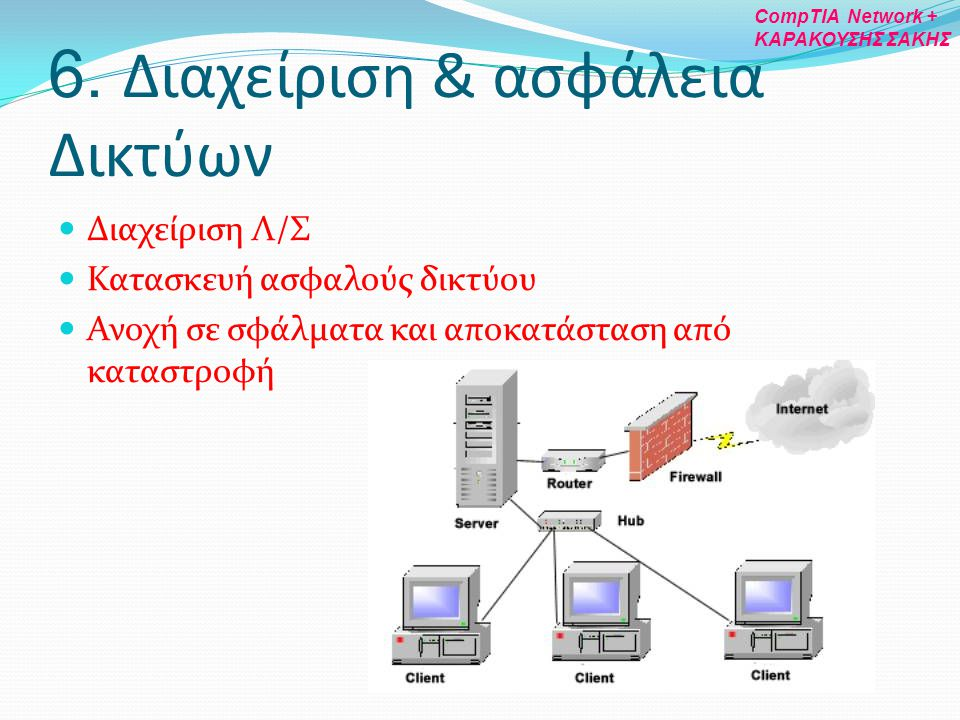 6. Διαχείριση & ασφάλεια Δικτύων