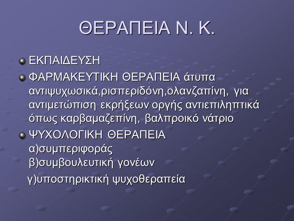 ΘΕΡΑΠΕΙΑ Ν. Κ. ΕΚΠΑΙΔΕΥΣΗ