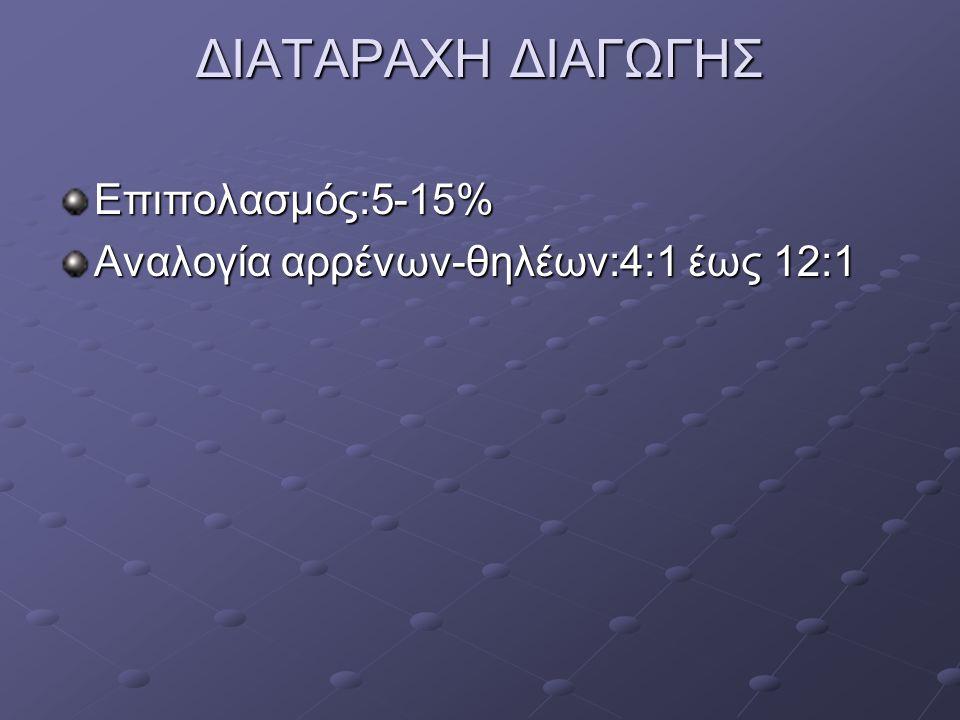 ΔΙΑΤΑΡΑΧΗ ΔΙΑΓΩΓΗΣ Επιπολασμός:5-15%