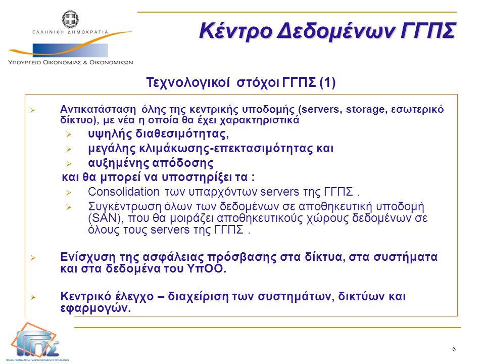 Τεχνολογικοί στόχοι ΓΓΠΣ (1)