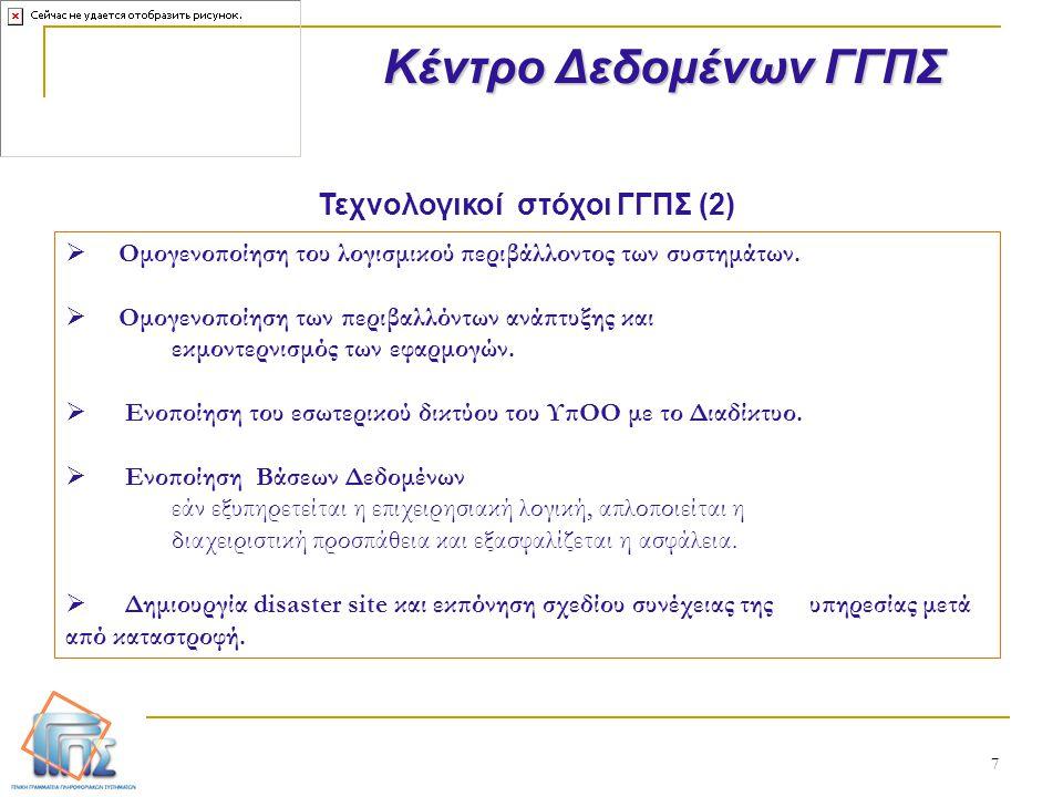 Τεχνολογικοί στόχοι ΓΓΠΣ (2)