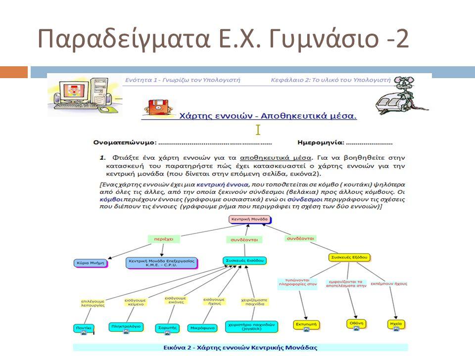 Παραδείγματα Ε.Χ. Γυμνάσιο -2