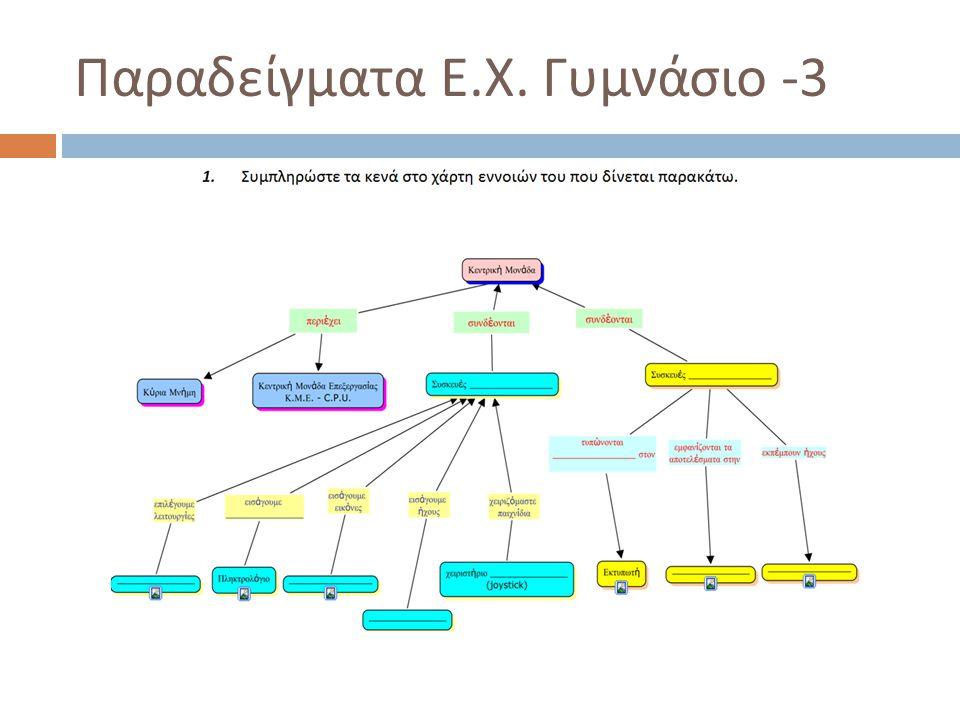 Παραδείγματα Ε.Χ. Γυμνάσιο -3