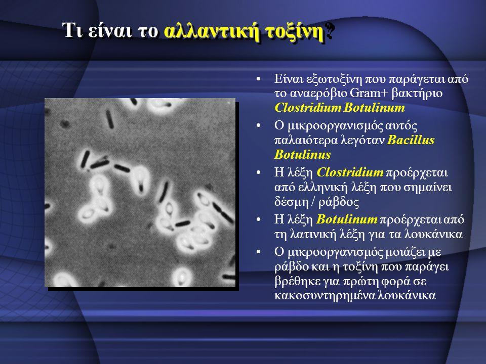 Τι είναι το αλλαντική τοξίνη