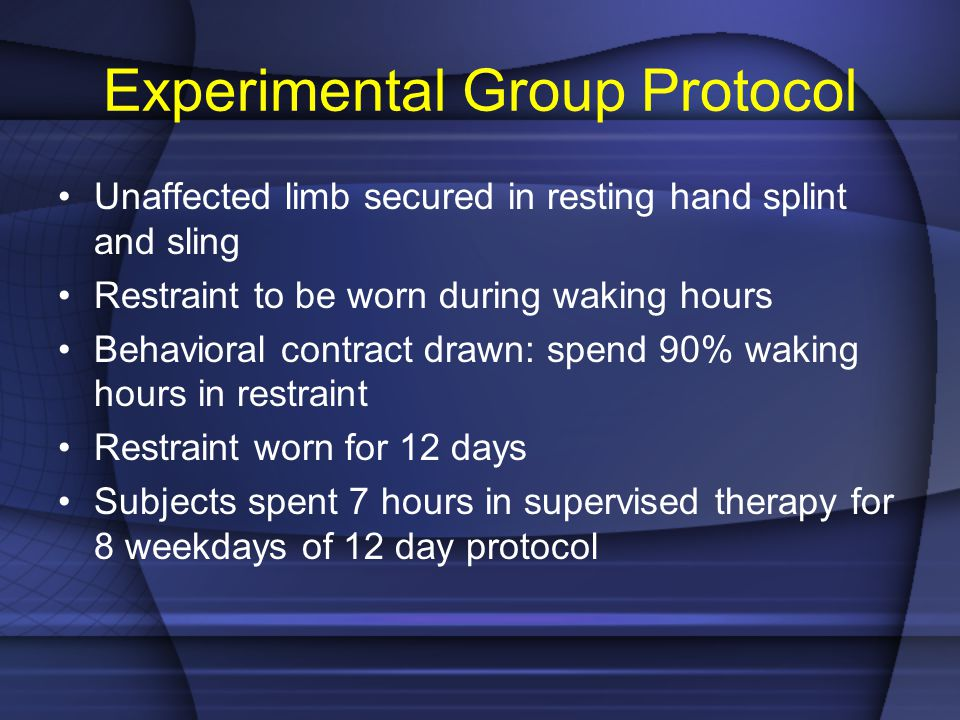 Experimental Group Protocol