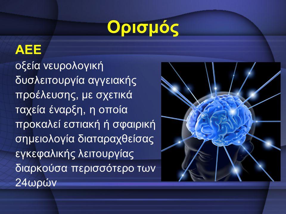 Ορισμός ΑΕΕ οξεία νευρολογική δυσλειτουργία αγγειακής
