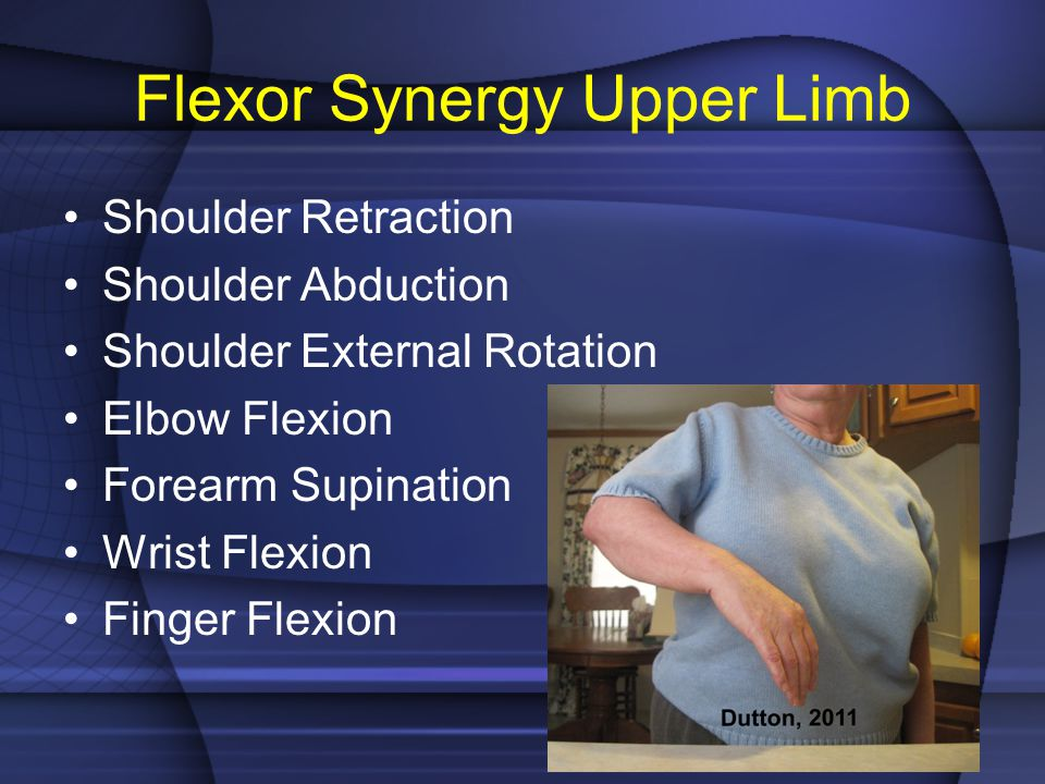 Flexor Synergy Upper Limb