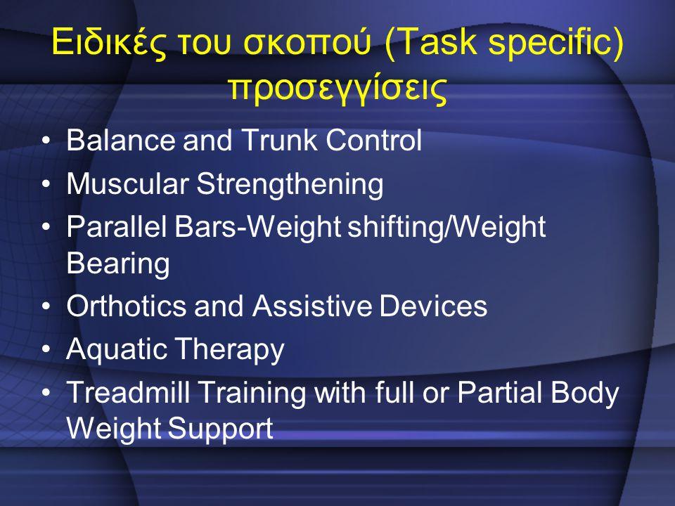 Ειδικές του σκοπού (Task specific) προσεγγίσεις