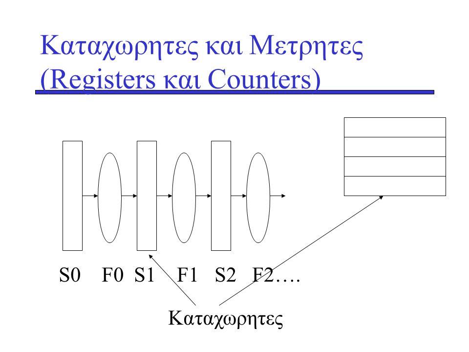 Kαταχωρητες και Μετρητες (Registers και Counters)