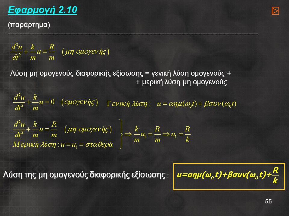 Εφαρμογή 2.10 (παράρτημα) --------------------------------------------------------------------------------------------------------