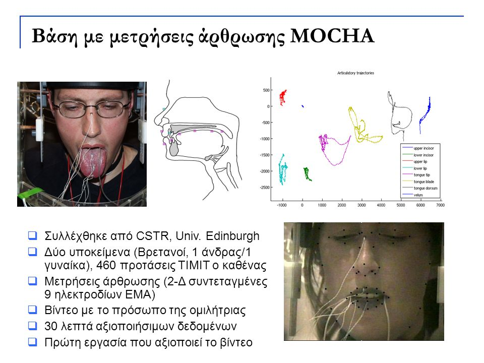 Βάση με μετρήσεις άρθρωσης MOCHA
