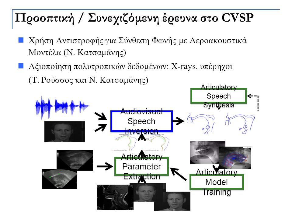Προοπτική / Συνεχιζόμενη έρευνα στο CVSP
