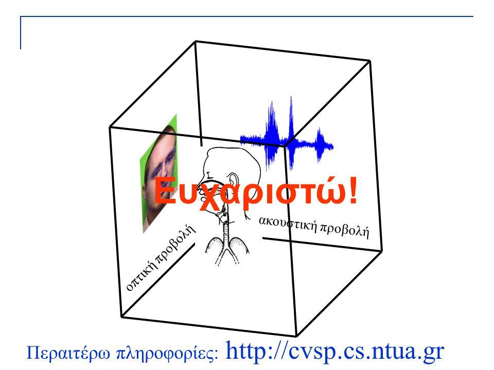 Ευχαριστώ! Περαιτέρω πληροφορίες: http://cvsp.cs.ntua.gr