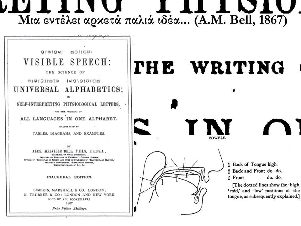 Μια εντέλει αρκετά παλιά ιδέα... (Α.Μ. Bell, 1867)