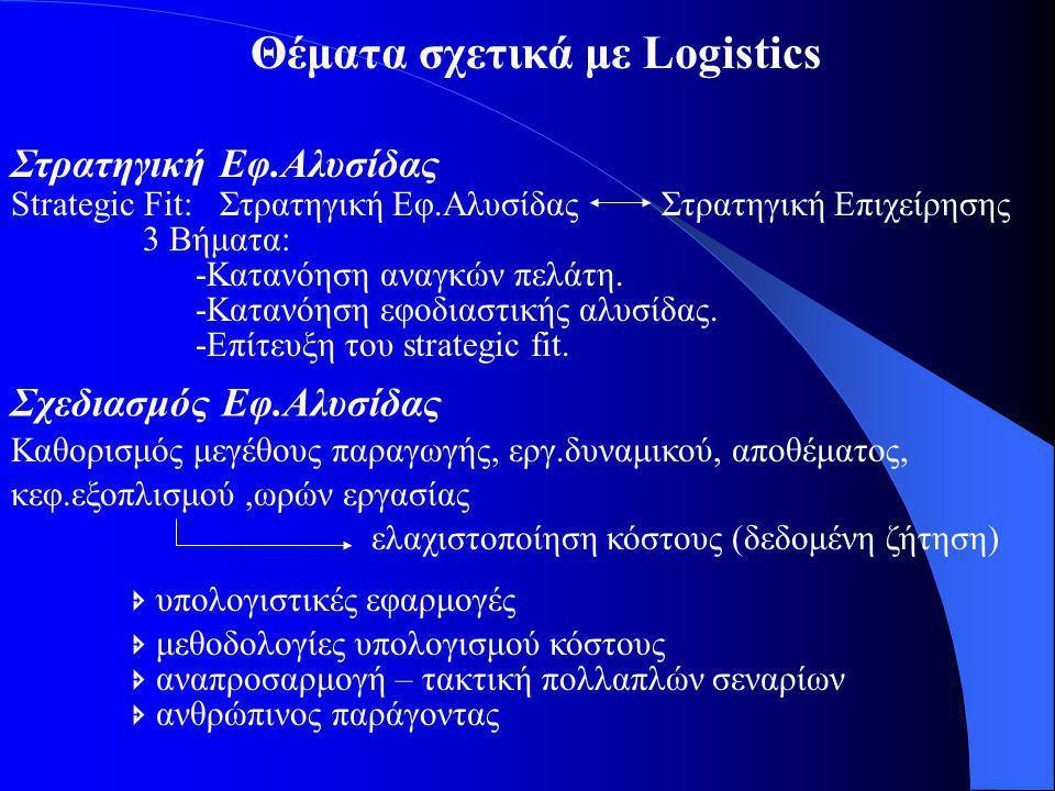 Θέματα σχετικά με Logistics