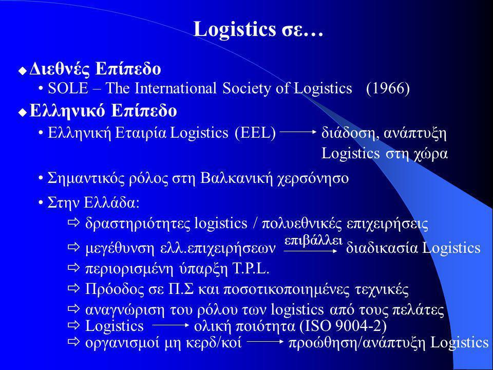 Logistics σε… • SOLE – The International Society of Logistics (1966)