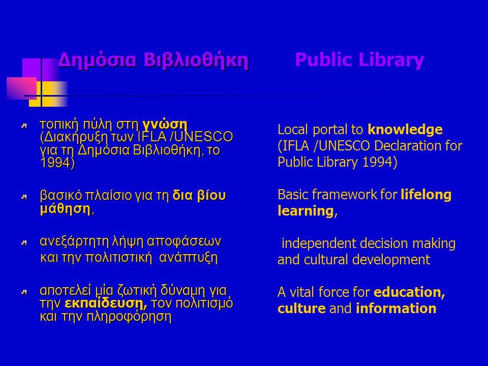 Δημόσια Βιβλιοθήκη Public Library