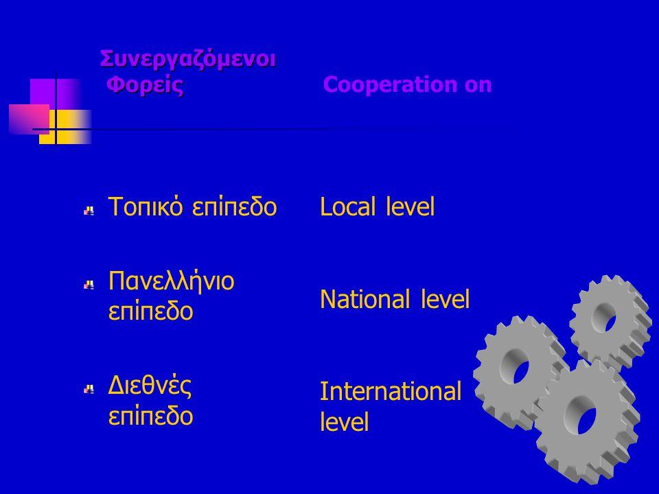 Συνεργαζόμενοι Φορείς Cooperation on