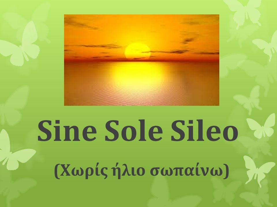 Sine Sole Sileo (Χωρίς ήλιο σωπαίνω)