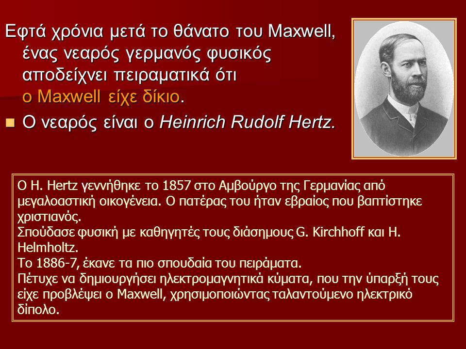 Ο νεαρός είναι ο Heinrich Rudolf Hertz.