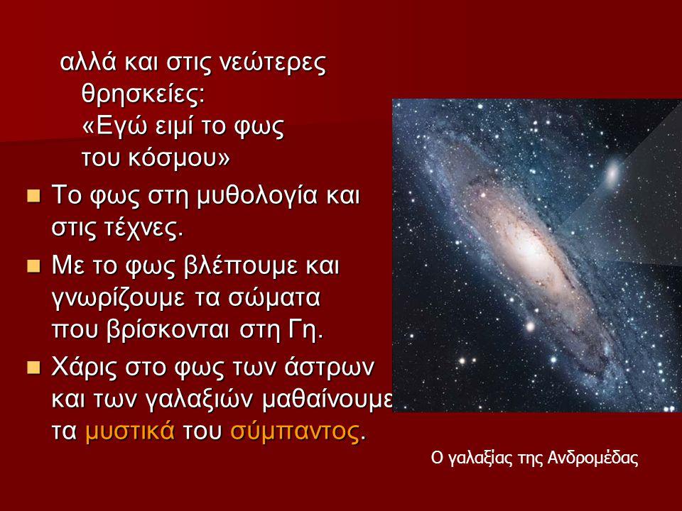 Ο γαλαξίας της Ανδρομέδας