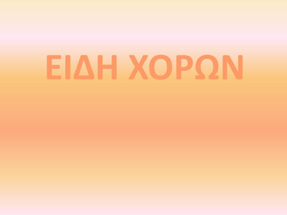 ΕΙΔΗ ΧΟΡΩΝ