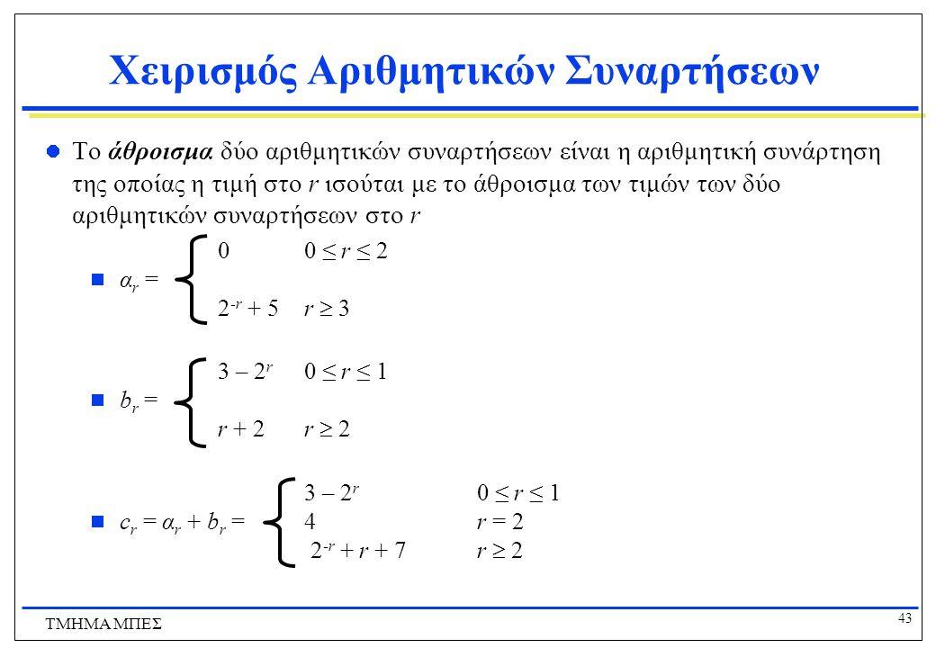 Χειρισμός Αριθμητικών Συναρτήσεων