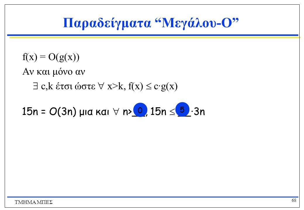 Παραδείγματα Μεγάλου-O