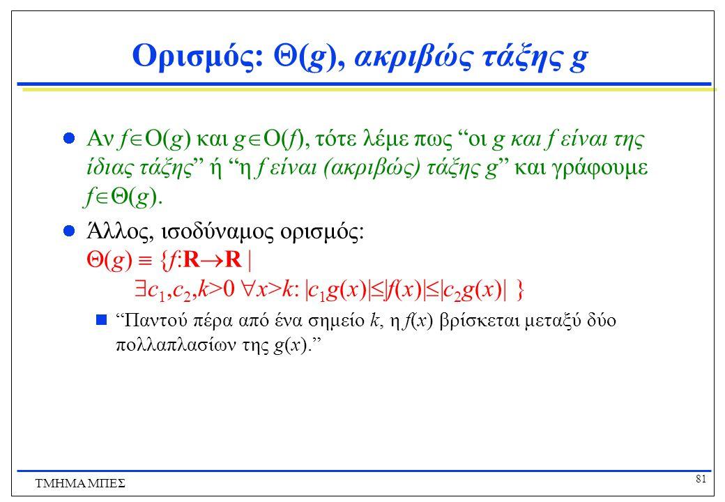 Ορισμός: (g), ακριβώς τάξης g
