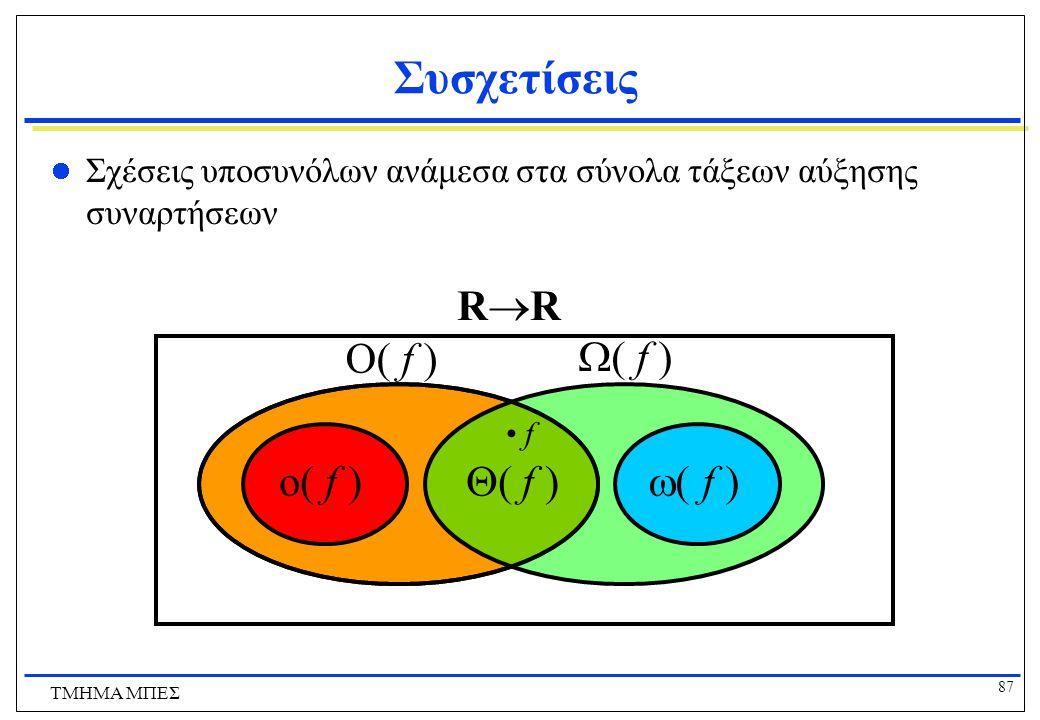 Συσχετίσεις RR O( f ) ( f ) o( f ) ( f ) ( f )