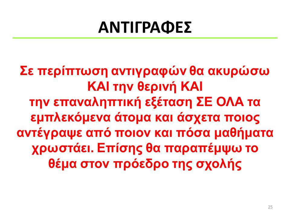 ΑΝΤΙΓΡΑΦΕΣ