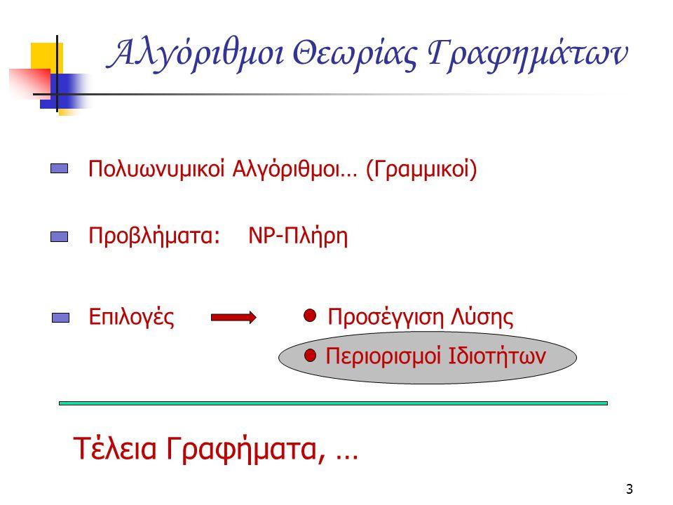 Αλγόριθμοι Θεωρίας Γραφημάτων