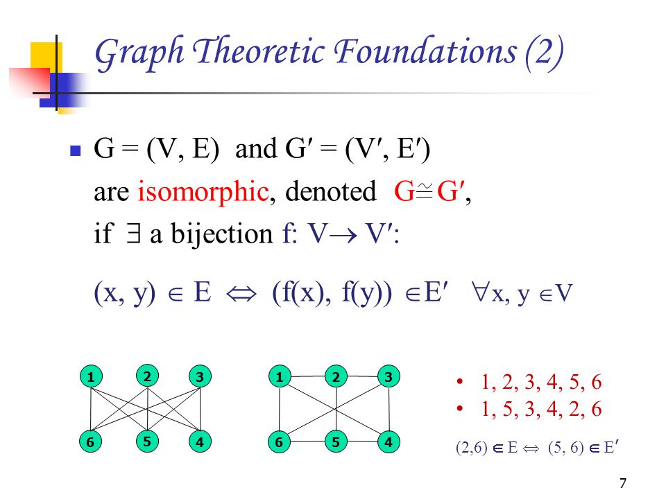 Graph Theoretic Foundations (2)