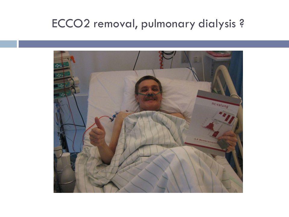 ECCO2 removal, pulmonary dialysis