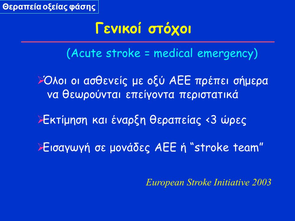 European Stroke Initiative 2003