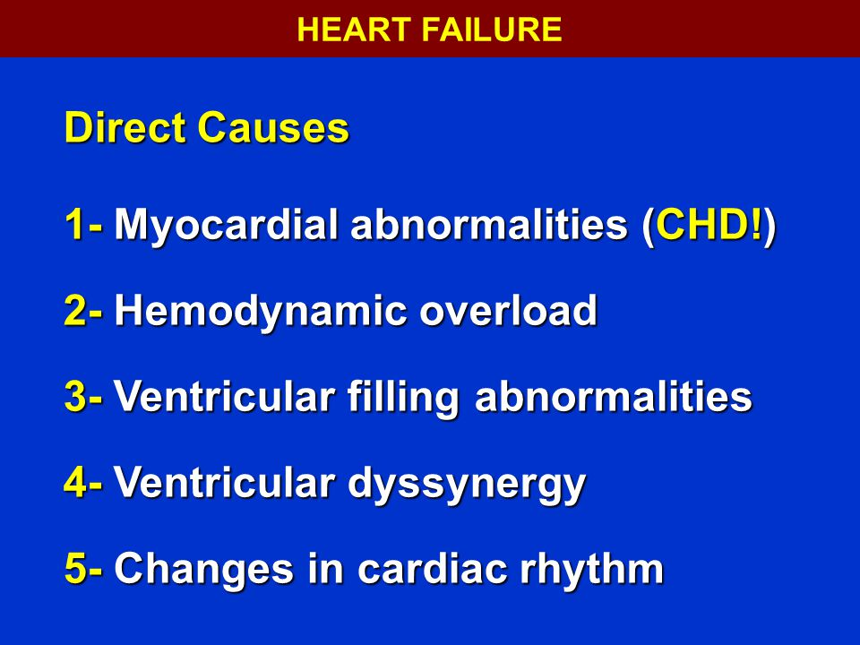 HEART FAILURE 36. Direct Causes.