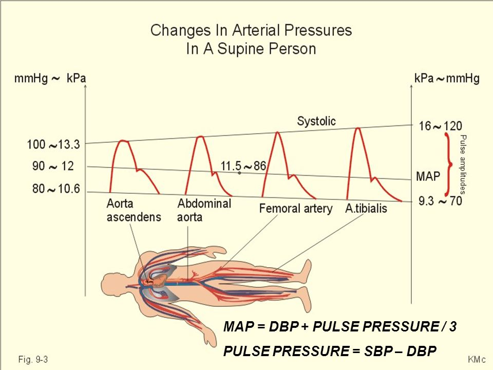 MAP = DBP + PULSE PRESSURE / 3