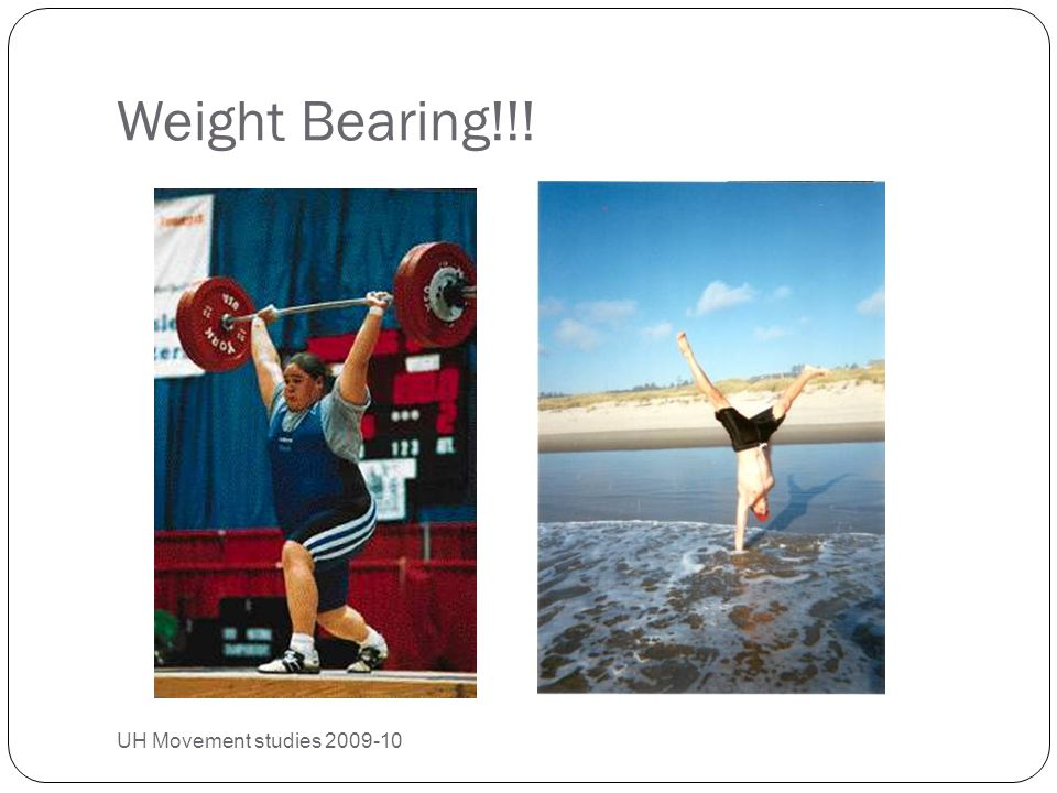 Weight Bearing!!! UH Movement studies 2009-10