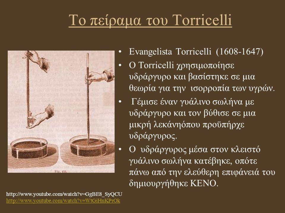 Το πείραμα του Torricelli