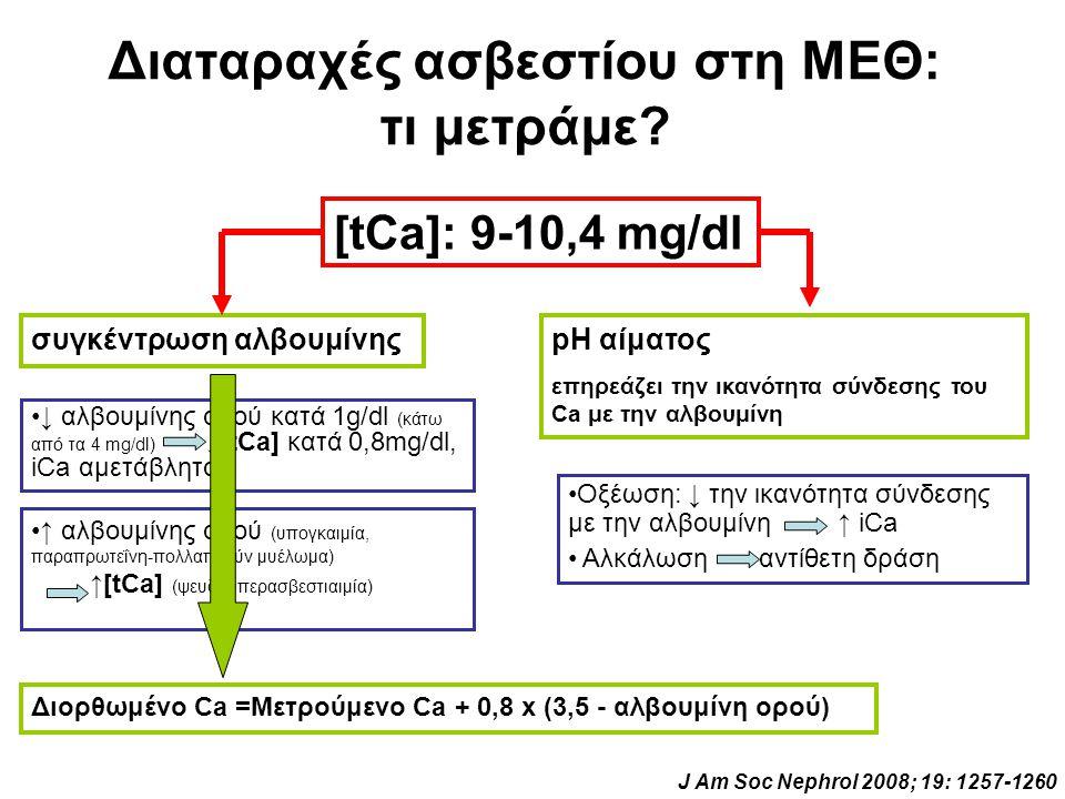 Διαταραχές ασβεστίου στη ΜΕΘ: τι μετράμε
