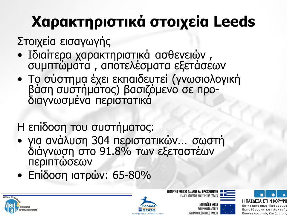 Χαρακτηριστικά στοιχεία Leeds