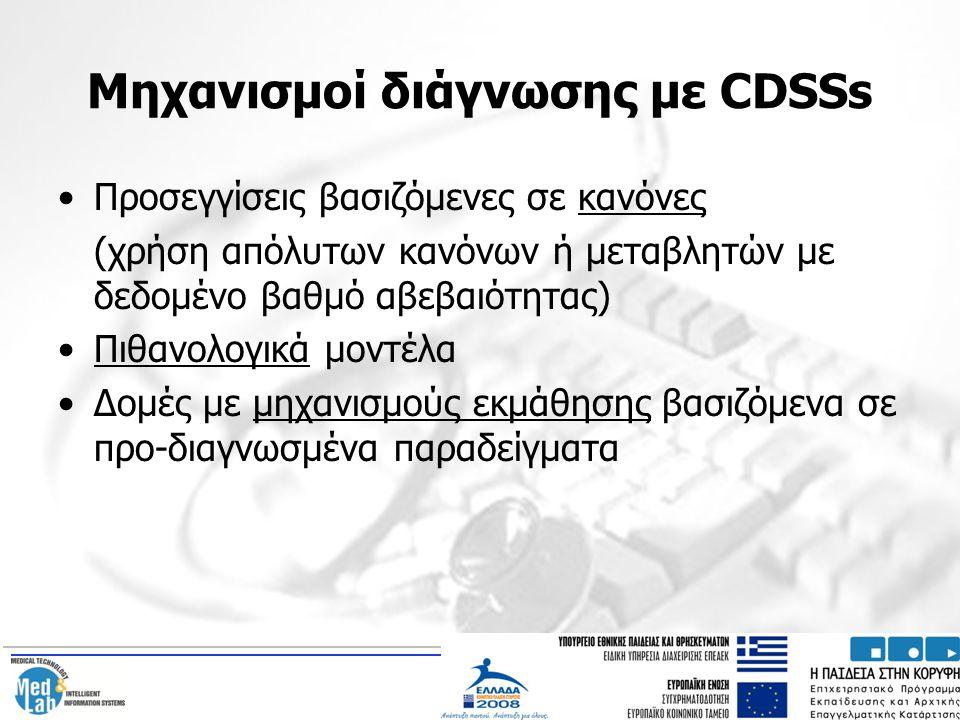 Μηχανισμοί διάγνωσης με CDSSs