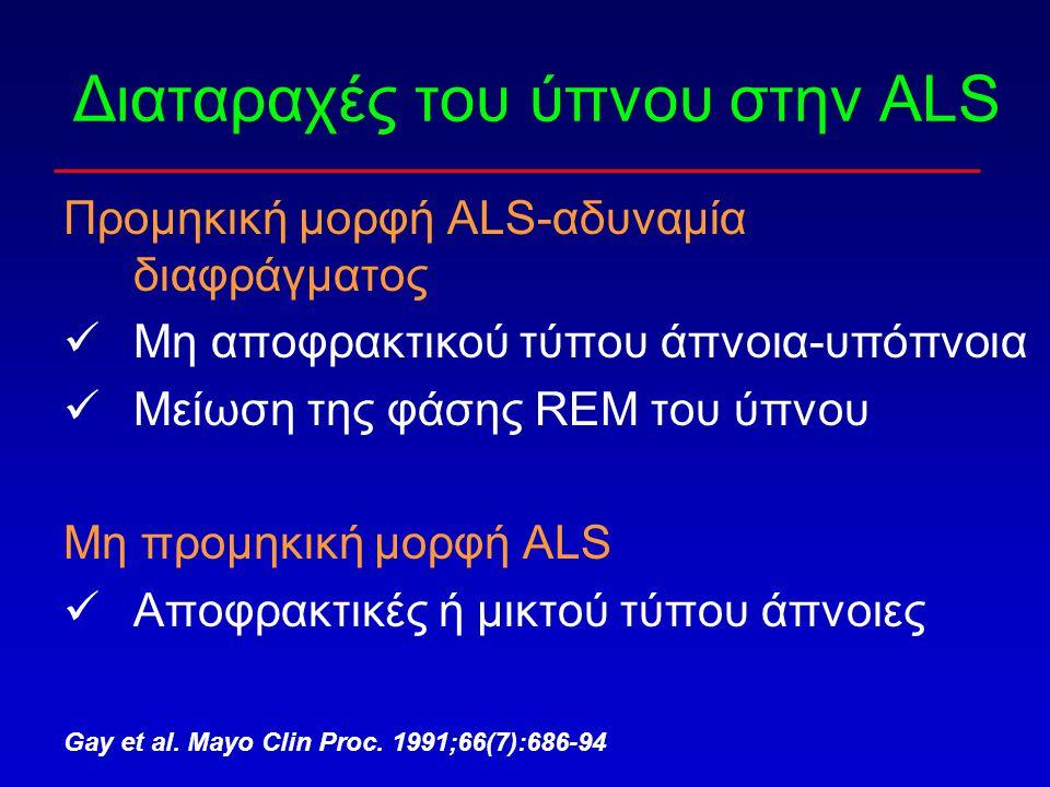 Διαταραχές του ύπνου στην ALS