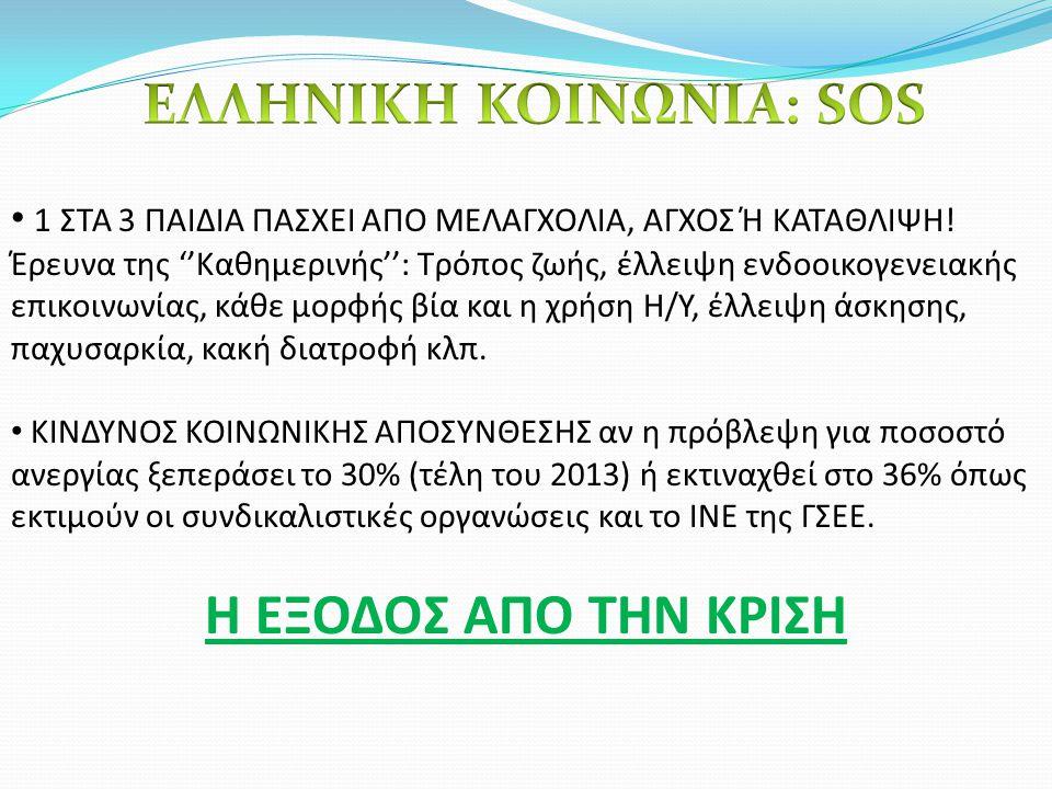 ΕΛΛΗΝΙΚΗ ΚΟΙΝΩΝΙΑ: SOS