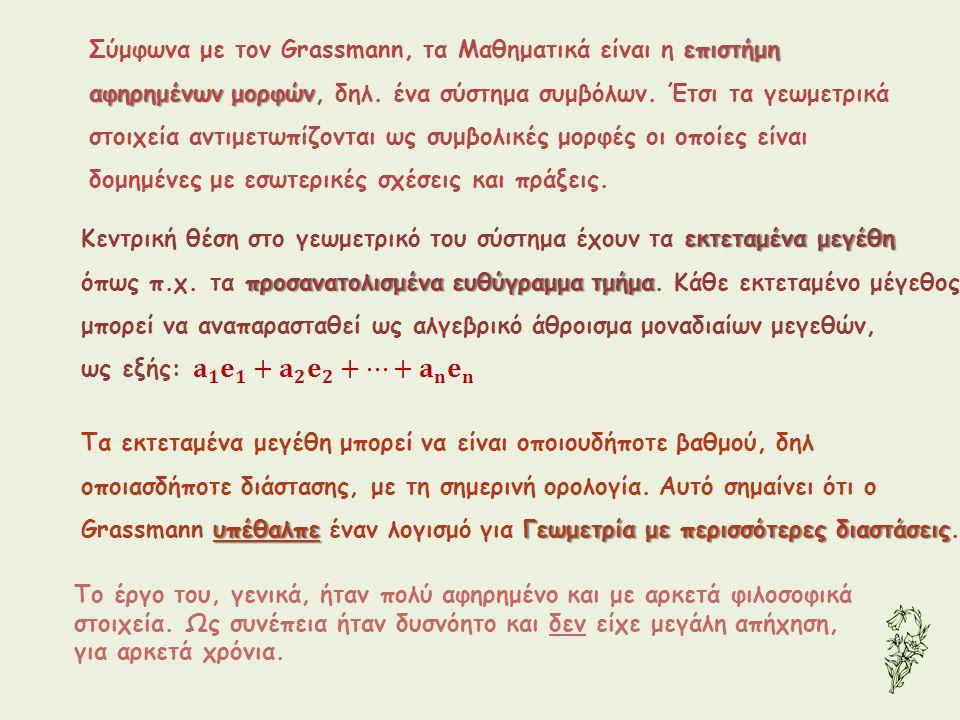 Σύμφωνα με τον Grassmann, τα Μαθηματικά είναι η επιστήμη